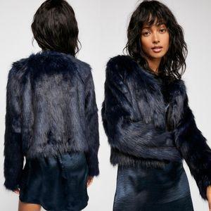 Free People Frankie Faux Fur Coat Jacket Medium